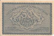 50,000,000 Mark (Bayerische Staatsbank) – revers