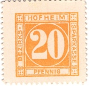 20 Pfennig (Hofheim - Bezirks-Sparkasse) – avers