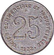 25 centimes - Union Commerciale et Industrielle - Bayeux [14] – revers