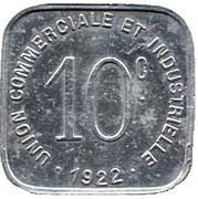 10 Centimes - Union Commerciale et Industrielle - Bayeux [14] – revers