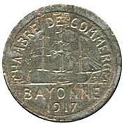 5 centimes - Chambre de Commerce 1917 - Bayonne [64] – avers