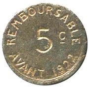 5 centimes - Chambre de Commerce 1917 - Bayonne [64] – revers