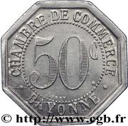 50 centimes - Chambre de Commerce - Bayonne [64] – revers