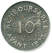 10 centimes - Chambre de Commerce 1917 - Bayonne [64] – revers