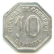 10 Centimes - Chambre de Commerce - Bayonne [64] – revers