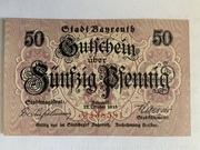 50 pfennig (Ville de Bayreuth) – avers