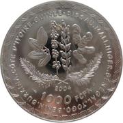 1000 francs (Coupe du monde de football Allemagne 2006) – revers