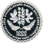 1000 francs (Production agricole) – revers