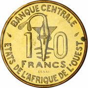 10 francs (FAO ; Essai) – revers