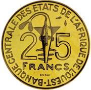 25 francs (FAO ; Essai) – avers