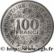 100 francs (non magnétique ; Essai) – revers