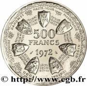 500 francs (Union monétaire ; Essai) – revers