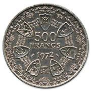 500 francs (Union monétaire) – revers