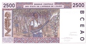 2500 Francs – revers