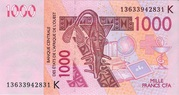 1000 Francs -  avers
