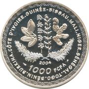 1000 francs (Coupe du monde de football Allemagne 2006) – avers