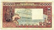 10,000 Francs – revers