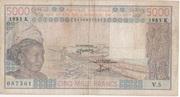5.000 Francs CFA – avers