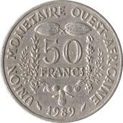50 francs (non magnétique) -  revers