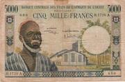 5000 Francs CFA – avers
