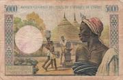 5000 Francs CFA – revers
