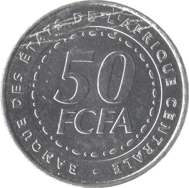 50 francs tats de l 39 afrique centrale beac numista. Black Bedroom Furniture Sets. Home Design Ideas