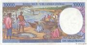 10000 Francs – revers