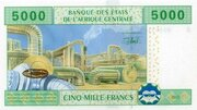5000 Francs – revers