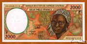 2000 Francs 'C'  CONGO Republic – avers