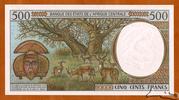 500 Francs  'C' Congo Republic – revers