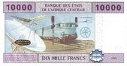 10.000 Francs – revers