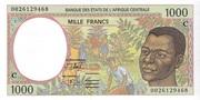 1000 Francs 'C' Congo Republic – avers