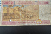 2000 francs – revers