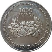 1000 Francs CFA – revers