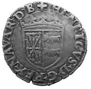 Douzain à la croisette - Henri d'Albret (1516 - 1555) – avers