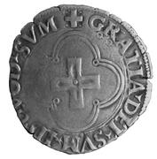 Douzain à la croisette - Henri d'Albret (1516 - 1555) – revers