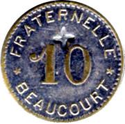 10 Centimes - Fraternelle - Beaucourt [90] – revers