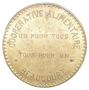 10 Centimes Coopérative Alimentaire - Beaucourt [90] – avers