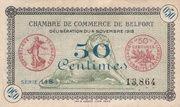 50 centimes - Chambre de Commerce de Belfort [90] – avers