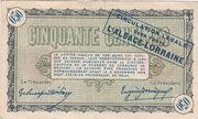 50 centimes - Chambre de Commerce de Belfort [90] – revers