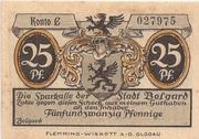 25 Pfennig (Belgard ) – avers