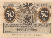 50 Pfennig (Belgard ) – avers