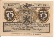 75 Pfennig (Belgard ) – avers