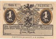 1 Mark (Belgard ) – avers