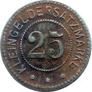 25 pfennig - Belgern – revers