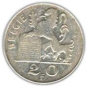 20 francs - Prince Charles - type Mercure (en néerlandais) -  revers