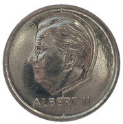 50 francs - Albert II  Euro 2000 (en français) – avers