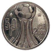50 francs - Albert II  Euro 2000 (en français) – revers