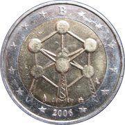 2 euros Atomium -  avers