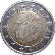2 euros Albert II (2e carte, 1er type, 1ère effigie) -  avers